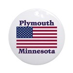 Plymouth Flag Ornament (Round)