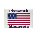 Plymouth Flag Rectangle Magnet (100 pack)