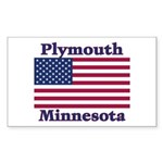 Plymouth Flag Rectangle Sticker 10 pk)