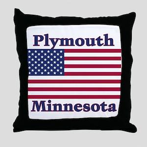 Plymouth Flag Throw Pillow