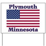 Plymouth Flag Yard Sign