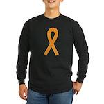 Orange Ribbon Long Sleeve Dark T-Shirt