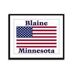 Blaine Flag Framed Panel Print