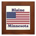 Blaine Flag Framed Tile