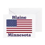 Blaine Flag Greeting Cards (Pk of 10)