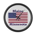 Blaine Flag Large Wall Clock