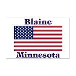 Blaine Flag Mini Poster Print