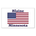 Blaine Flag Rectangle Sticker 10 pk)