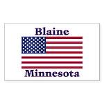 Blaine Flag Rectangle Sticker 50 pk)