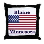 Blaine Flag Throw Pillow