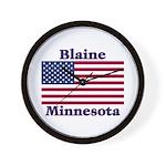 Blaine Flag Wall Clock