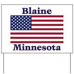 Blaine Flag Yard Sign