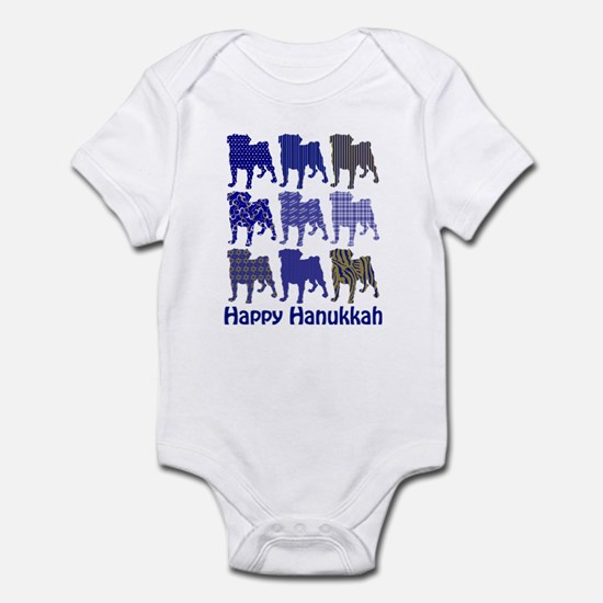 Hanukkah Pugs Infant Bodysuit