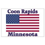 Coon Rapids Flag Large Poster