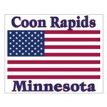 Coon Rapids Flag Small Poster