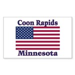 Coon Rapids Flag Rectangle Sticker