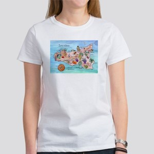Map Of Sicily Women's T-Shirt
