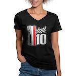 GT2 Women's V-Neck Dark T-Shirt