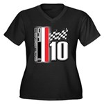 GT2 Women's Plus Size V-Neck Dark T-Shirt