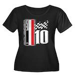 GT2 Women's Plus Size Scoop Neck Dark T-Shirt