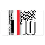 GT2 Rectangle Sticker 10 pk)