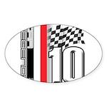 GT2 Oval Sticker (10 pk)