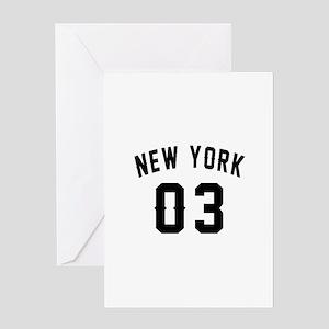 New York 03 Birthday Designs Greeting Card