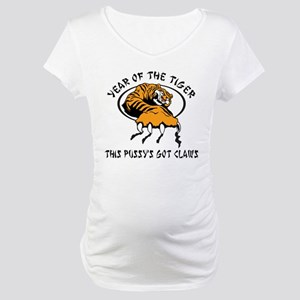 Naughty Year of The Tiger Women's Maternity T-Shir