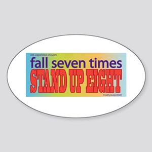 Stand Up Oval Sticker