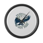 Freedom Is Not Free Large Wall Clock