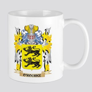 O'Rourke Family Crest - Coat of Arms Mugs