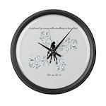 Basic Black Large Wall Clock