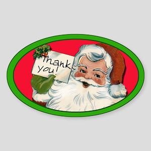 Holiday Tip Jar Sticker with Santa Claus