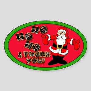 Santa Claus Tip Jar Sticker