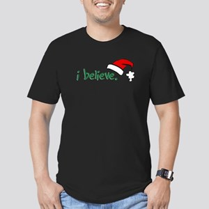 i believe. Men's Fitted T-Shirt (dark)