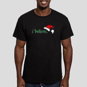 i believe. Men's Fitted T-Shirt (dark)