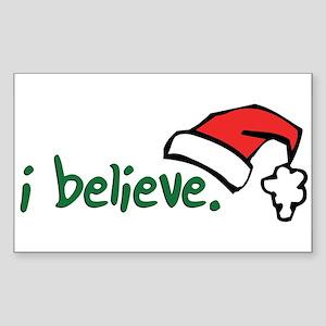i believe. Rectangle Sticker
