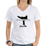 Taekwondo Mom Women's V-Neck T-Shirt