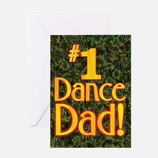 #1 Dance Dad Greeting Card