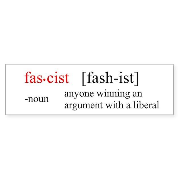 Fascist Definition Bumper Bumper Sticker By Feartheleft
