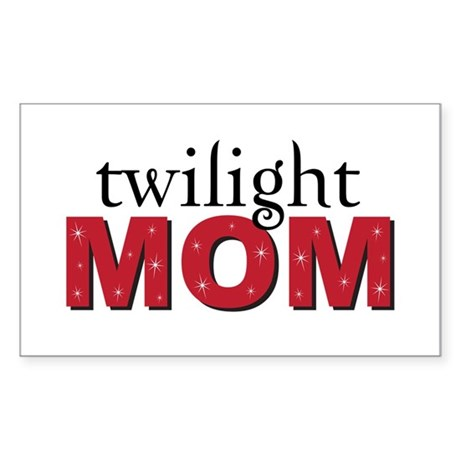 """Twilight Mom"" Rectangle Sticker"