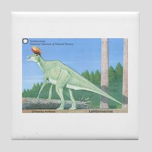 Lambeosaurus Tile Coaster