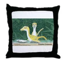 Troodon formosis Throw Pillow