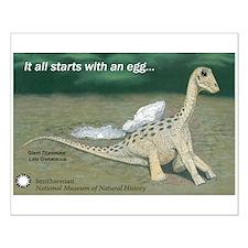 Giant Titanosaur Egg Small Poster