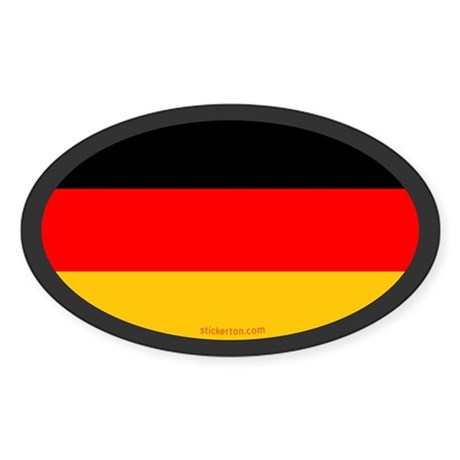 German Flag Oval Sticker