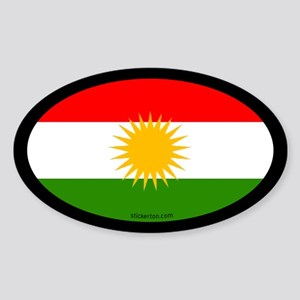 Kurdish Flag Oval Sticker