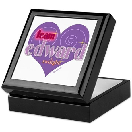 Team Edward Purple Heart Keepsake Box