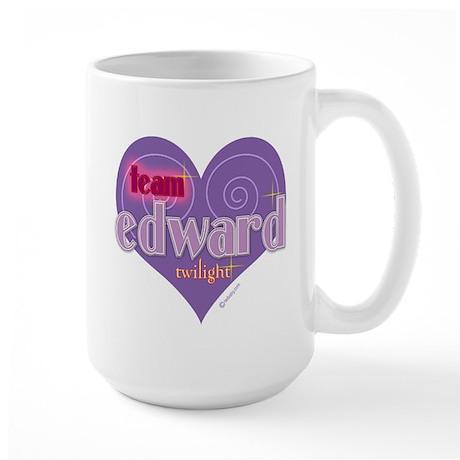Team Edward Purple Heart Large Mug
