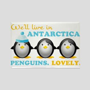 Penguins.Lovely. Rectangle Magnet