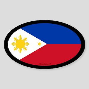 Filipino Flag Oval Sticker